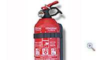 Car extinguisher with pressure gauge, 1 kg