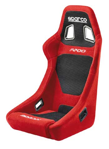 Sparco F200 signle frame car seat Red