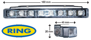 Coppia Luci Diurne Led Daylight 160 mm