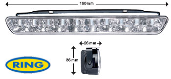 Coppia Luci Diurne Led Daylight 190 mm