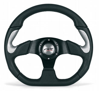 Simoni DTM black/silver steering wheel