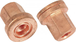 Copper nut 12x1.25 thread 19mm hex flat
