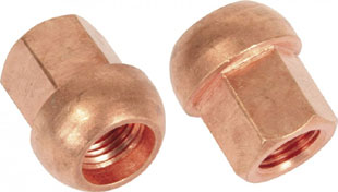 Copper nut 12x1.25 thread 17mm hex spherical