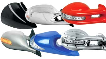 Side mirrors with indicators