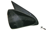 Pair manual door mirrors in carbon fibre