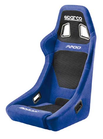 Sparco F200 signle frame car seat Blue