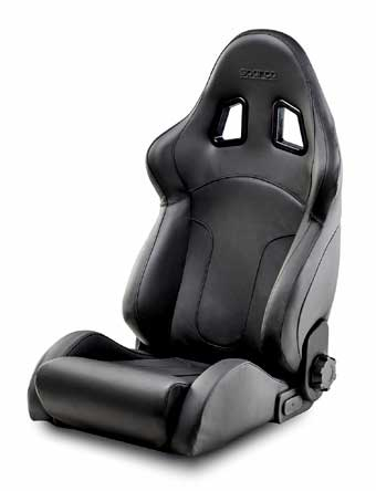 Sparco Car Seat In Real Leather R600