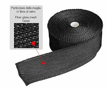 Exhaust insulation wrap 50mm x 15mt graphite black