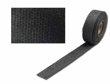 Exhaust insulation wrap 25mm x 15mt graphite black