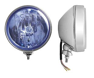 X-Tre, halogen driving light with position light - Blue lens 200 mm