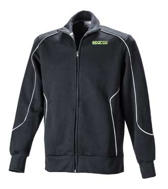 Sparco cotton full zipped sweat shirt