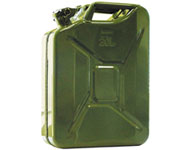 Steel petrol tank army green 20 LT
